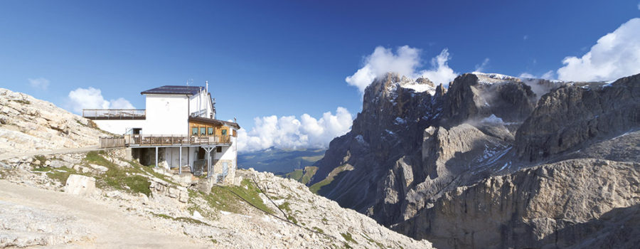 summer landscape from Rosetta mount - San Martino di Castrozza, Italy