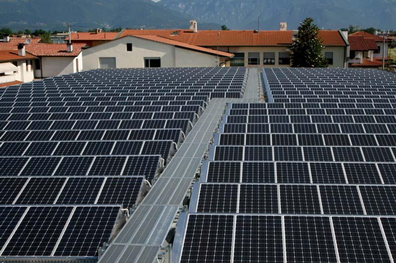 Impianto fotovoltaico realizzato in provincia di Vicenza